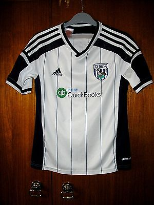 West Bromwich Albion Football Shirt adidas home 2014 size YL age 9/10/11 152cm