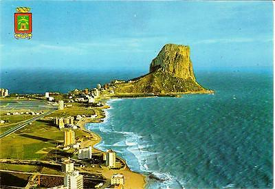 Calpe, Alicante - Aerial View - Unposted Postcard