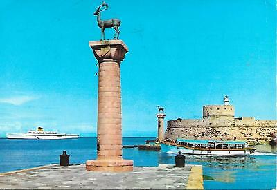 """Rhodes - """"Stag"""" Light House - Posted Postcard"""