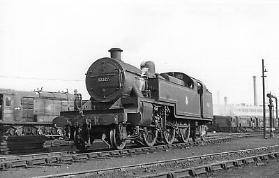 Photo Ex LMS 4MT 2-6-4T No 42327 seen here at Saltley shed yard on 29/4/56