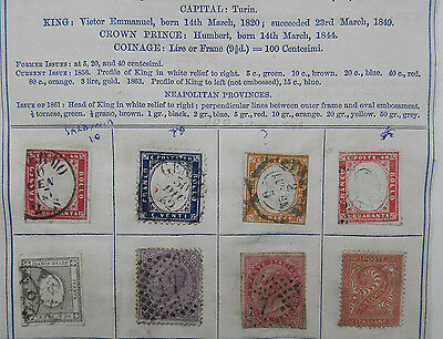 * Italy Stamps. Early Issues *