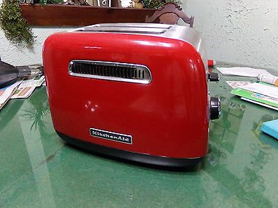 Red And Black KitchenAid 2 Slice Toaster Great Working Condition Bagels