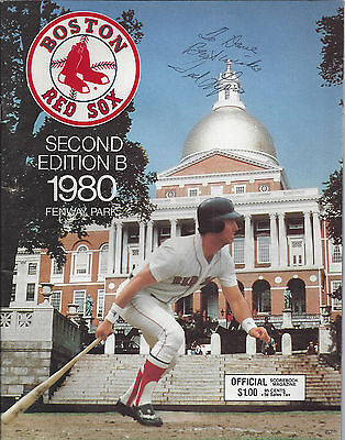 Ted Lepcio Signed Boston Red Sox 2nd Edition 1980 Fenway Park Scorebook