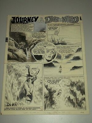 Harry Bishop Journey To The Edge Of The World Original Comic Art