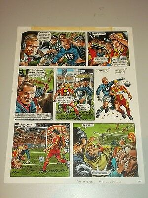 Roy Of The Rovers British Weekly Original Comic Art Football