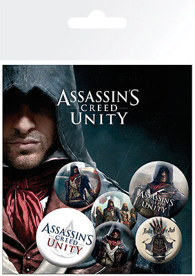 Button Badge 6er Pack ASSASSIN´S CREED Unity - Game - 2x 32mm & 4x 25mm BP0552