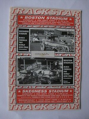 Stock Car Racing Boston Stadium 9th Sep.1990 Programme