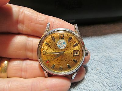 Working Intl. Assoc. of Machinists & Aerospace Workers Union wind up wristwatch.