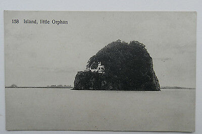 * Old Chinese Postcard*  Little Orphan Island.*