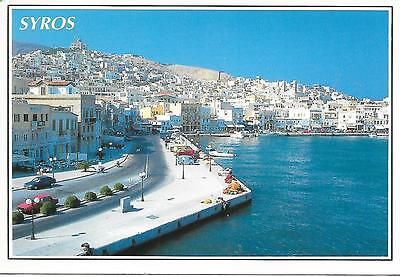 Syros - View - Posted Postcard
