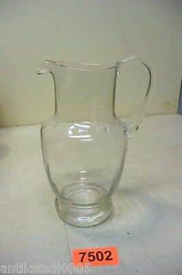 Nr. 7502.  Alter Glaskrug Jugendstil / alte Wasserkanne  Old Glass Water Pitcher