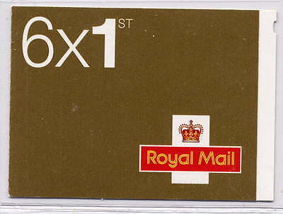 GB 2009 6 x 1st CLASS SELF ADHESIVE STAMPS CYLINDER W5 ph W2 BOOKLET MB8