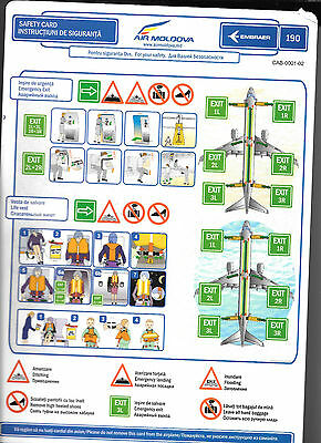 1 x AIR MOLDOVRAER 190 SAFETY CARD