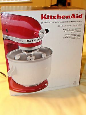 New Kitchen Aid, Ice Cream Maker Attachment Never Out Of The Box