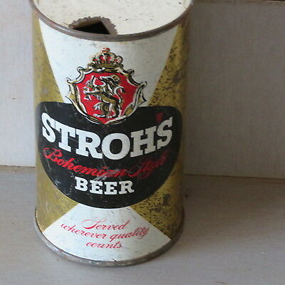 "Strohs  Beer  ""block  Letters""  Solid   Detroit  Flat Top"
