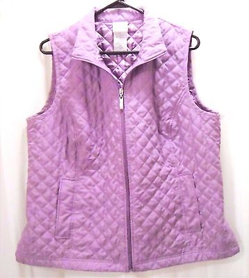 """Scandia Woods women's quilted vest, lavender, size large, 45"""" bust (#203)"""