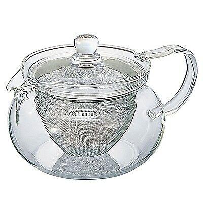 Hario 50 ml Stainless Fine Glass Teapot with Large Infuser Pack of 1 NEW