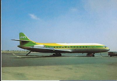 Germany SAT airline issue Caravelle postcard