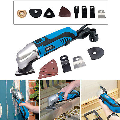 Draper 250W Oscillating Multi Function Sander Cutter Tool + 45Pc Accessories Kit