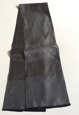 Mens VINTAGE SCARF CHECKED DOGTOOTH CHECK Smart Hipster Retro 70's SILK Style