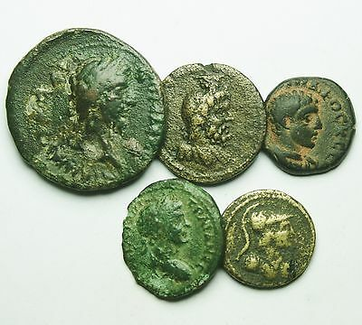 Interesting Selection Of 5 Roman Provincial Coins (806M)