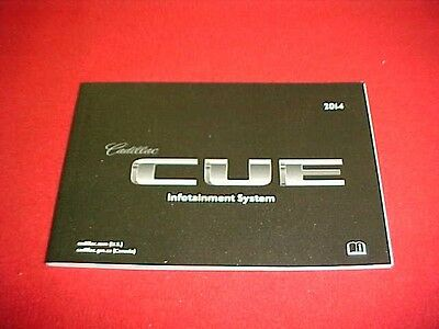 2014 Original New Cadillac Cue Navigation Infotainment System Booklet Only 14