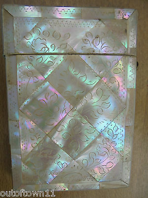 Antique Mother of Pearl Card Case    ref208