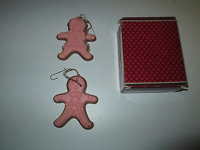 Vintage 1981 AVON GINGERBREAD JOYS 2 Fragranced Wax Ornaments SPICED APPLE