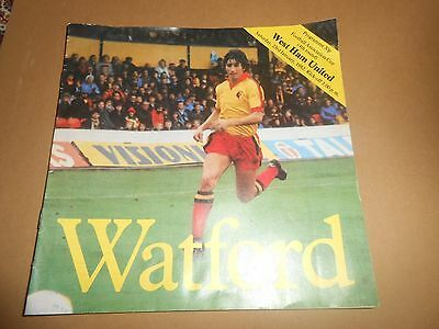 Watford vs West Ham United 23/1/1982 FA Cup 4th Round Football Programme