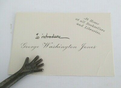 1903 Advertising Card for GEORGE WASHINGTON JONES by Ruth McEnery Stuart