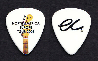 Eric Clapton White Guitar Pick - North America Europe Tour 2008