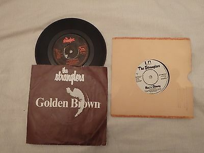 The Stranglers - 2 Singles.  Golden Brown / Nice N Sleazy. Vg Condition
