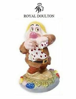 "Royal Doulton Figurine ""Snow White"" DWARF ~ SNEEZY SW29 New box"