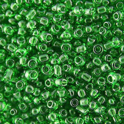 Wholesale 1KG Green Transparent Glass Seed Beads Size 11/0 2mm