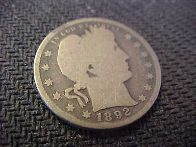 1892-S  Barber Quarter Beautiful Coin Invest in Silver !!