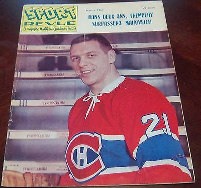 Sport Revue Hockey January 1963 Gilles Tremblay  cover