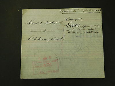 Antique Vellum Indenture 1883 Grove Street Holloway London