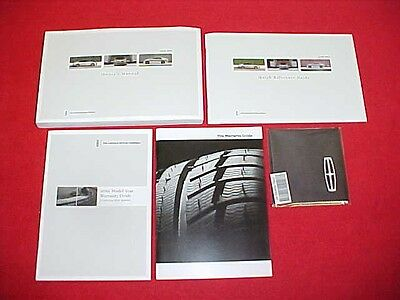 2016 Lincoln Mkz Original New Owners Manual Service Guide Book Kit 16 Glovebox
