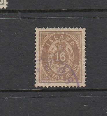 A very nice old Icelandic Very High Cat 16 Aur Brown 1876 issue
