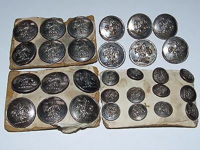X30 Antique c1880/90s Livery / Family Crest / Military buttons Firmin & Sons Ld
