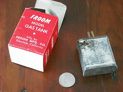 "Froom Model airplane gas tank two speed 22A 2"" 2 oz .85 NOS NIB"