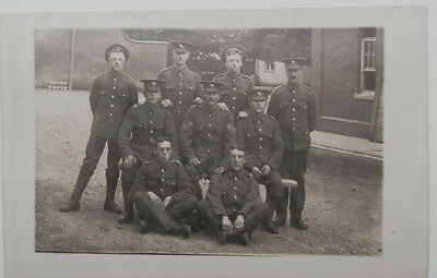 *ww1 Group Of Soldiers.real Photo Postcard.*