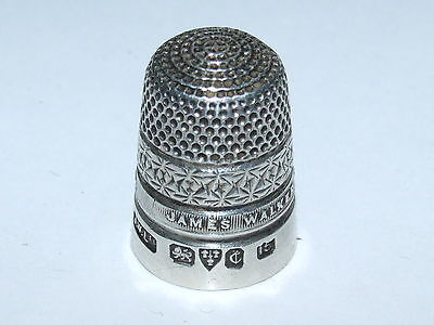 Scarce Design, Lovely Condition 1928 James Walker Solid Silver Thimble Size 15