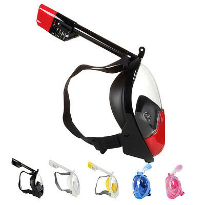 Adults and Kids Full Face Snorkel Mask 180° View Scuba Snorkeling Diving XS - XL