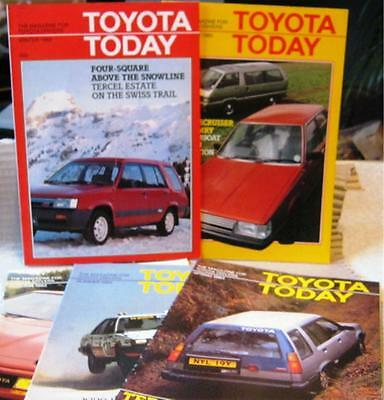 """5 Qty  1982/3 """"TOYOTA TODAY""""A4 sized  MAGAZINES - 30 pages EXCELLENT CONDITION"""