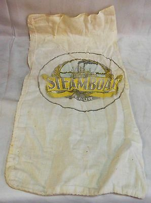 Vintage Steamboat Flour Sack With Memphis River Boat On River Scene