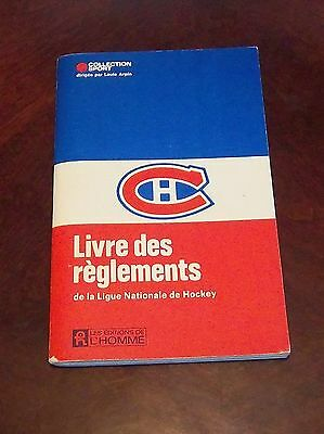 Montreal Canadians  1972-1973 Pro Hockey Rules / Guide NHL