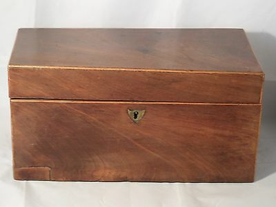ANTIQUE VICTORIAN? 19th CENTURY MAHOGANY? TEA CADDY BOX WITH WOODEN INSERTS