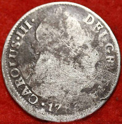 1783 Mexico 2 Reales Silver Foreign Coin Free S/H