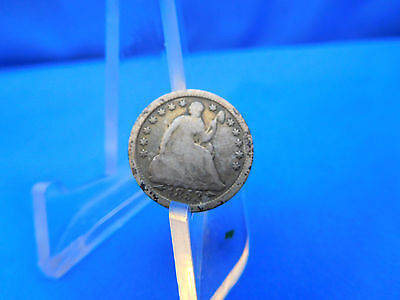 1853 US Silver Seated Half Dime Good